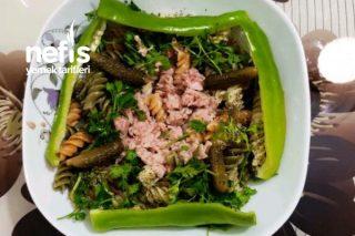 Sebzeli Ton Balıklı Diyete Uygun Makarna Tabağı Tarifi