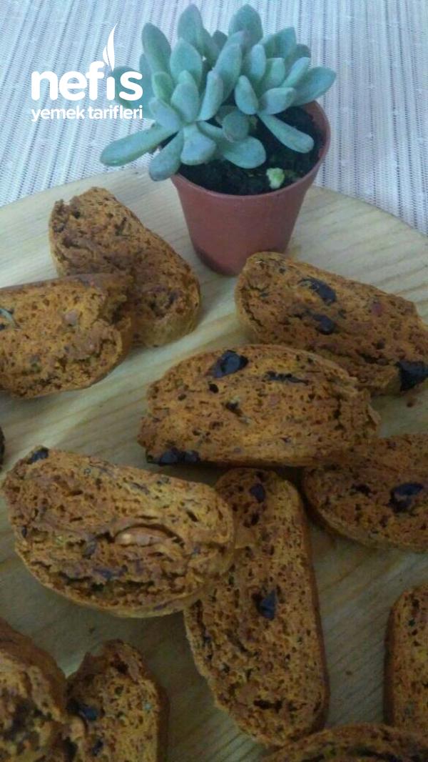 Tuzlu Kurabiye Biscotti