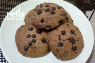 Bol Çikolatalı Granül Kahveli Kurabiye (Enfes Lezzet) Tarifi