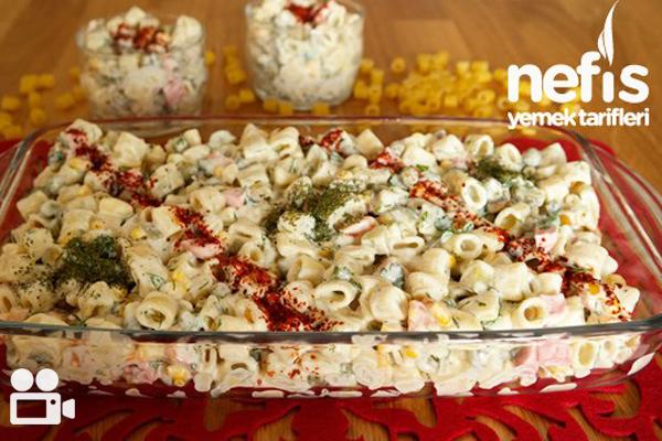 Makarna Salatasının Yanına 10 Videolu Tarif Tarifi
