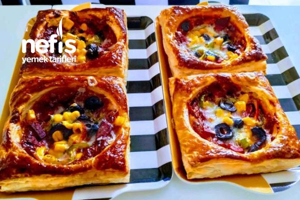En Kolayından Mini Pizzalar (Videolu) Tarifi