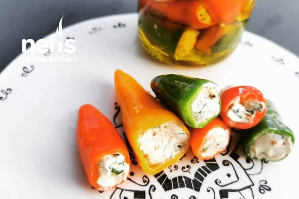Krem Peynirli Mini Biber Dolması Tarifi
