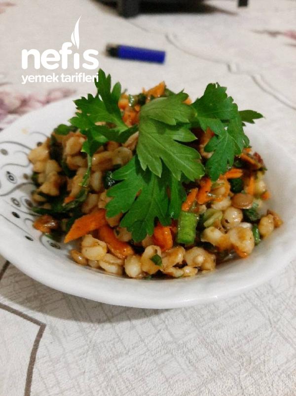 Yeşil Mercimekli Buğday Salatası