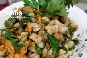 Yeşil Mercimekli Buğday Salatası Tarifi