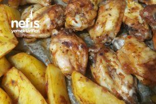 Fırında Tavuk Kanat İle Patates Tarifi