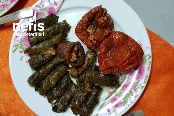 Kuru Biber Patlıcanlı Dolma Sarma Tarifi