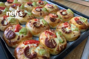 Mini Pizza Poğaçalar Tarifi