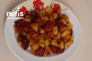 Sucuklu Patates Kavurma (Kahvaltılık) Tarifi