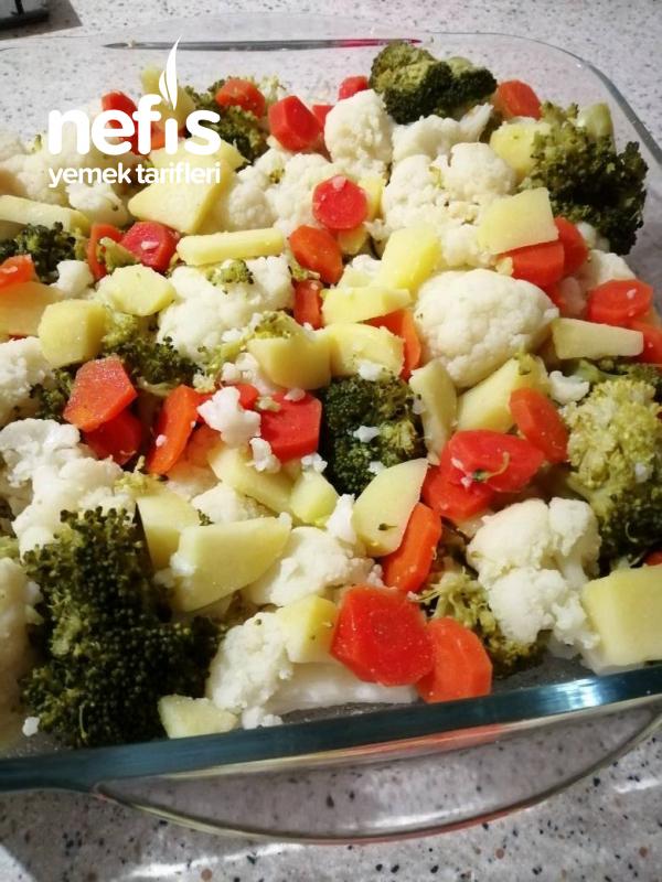 Brokoli Ve Karnabahar Graten