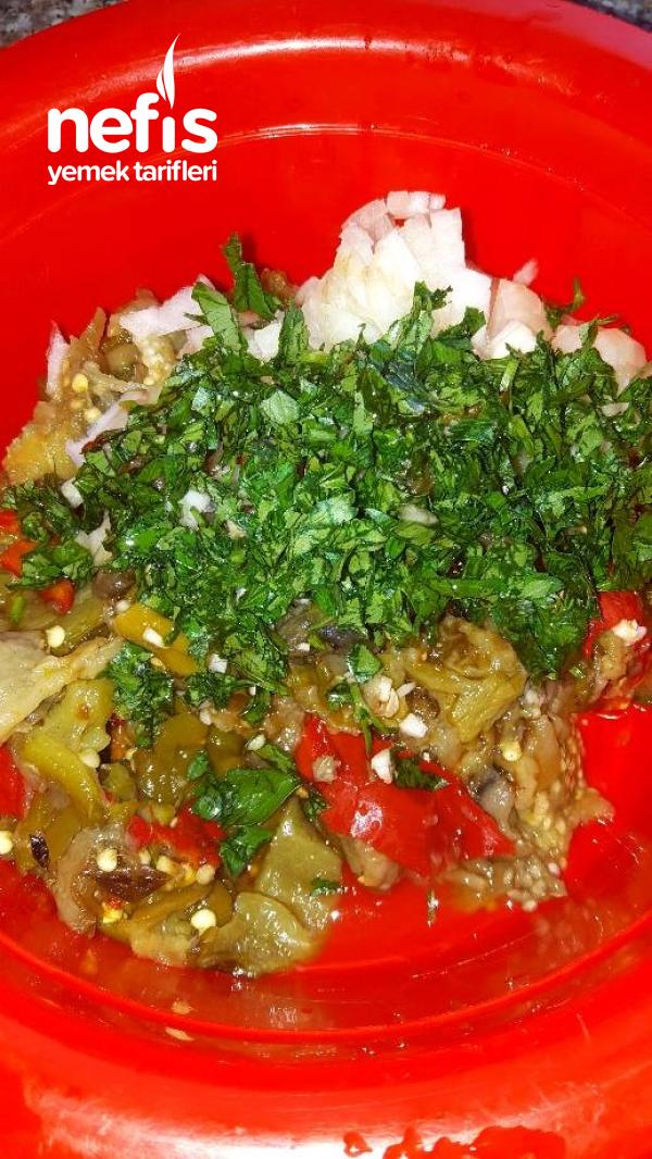 Köz Biber Patlıcan Salatası