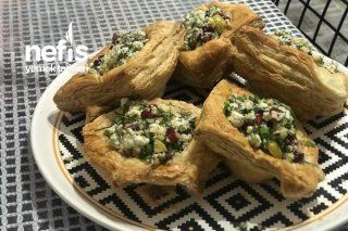 Çıtır Milföy Çanağında Lor Salatası Tarifi