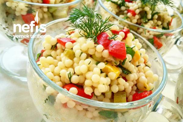 Kuskus Makarna Salatası Vazgeçilmez Lezzet Tarifi