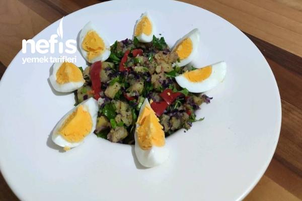 Renkli Patates Salatası (Soğansız) Tarifi