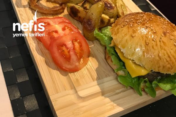 Cheesburger (Her Şey Ev Yapımı Harika Bir Tarif Kesin Denemelisiniz Pişman Olmayacaksınız) Tarifi