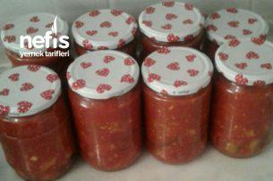 Domates Soslu Patlıcan Biber Konservesi ( Kızartma ) Tarifi