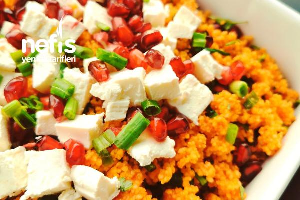 Nar Ve Feta Peynirli Kuskus Salatası Tarifi