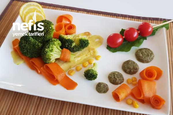 Bezelye Soslu Brokoli Salatası Tarifi