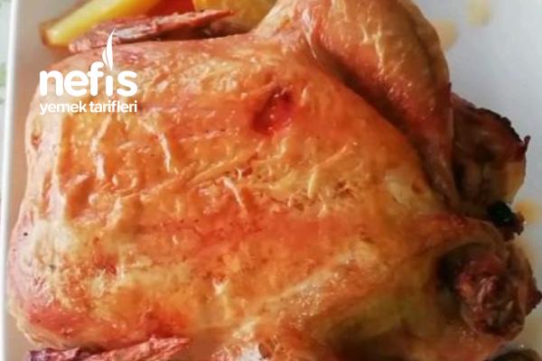 Hazır Pişmiş Tavuktan Hiç Bir Farkı Yok  Fırında Bütün Tavuk (Videolu) Tarifi