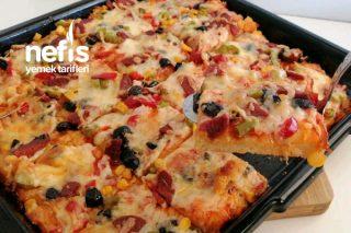 Kapış Kapış Giden Tepsi Pizzası Tarifi