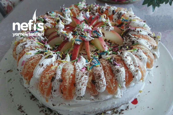 Kış Meyveli Pasta Tarifi