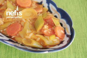 Portakal Suyunda Pırasa Yemeği (Videolu) Tarifi