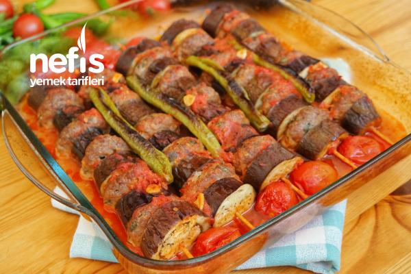 Fırında Patlıcan Kebabı (Videolu) Tarifi