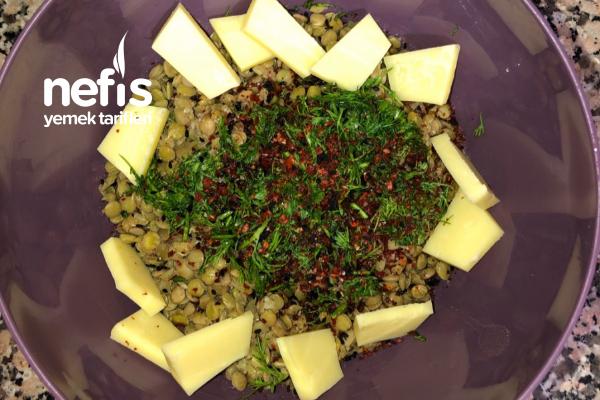 Diyet Yeşil Mercimek Salatası Tarifi