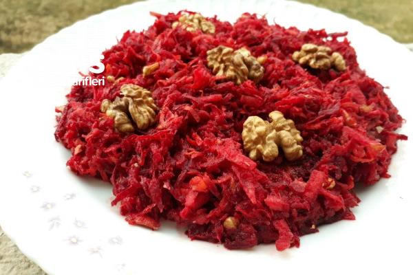 Elmalı Cevizli Kırmızı Pancar Salatası Tarifi