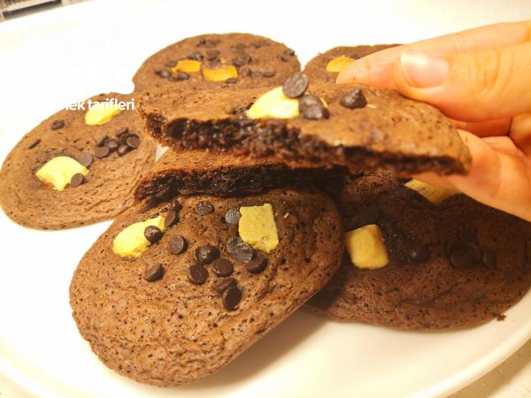 Aman Dikkat !! Bu Kurabiye Çok Yediriyor – Çikolatalı Cookie