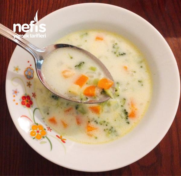 Sütlü Brokoli Çorbası ( Taneli )