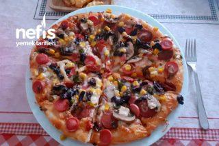 2 Kişilik Büyük Pizza Tarifi