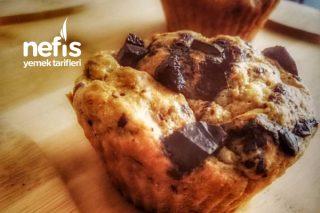 Fit Çikolata Parçacıklı Muzlu Muffin Tarifi