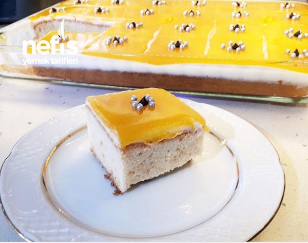Portakal Soslu Muhallebili Pasta