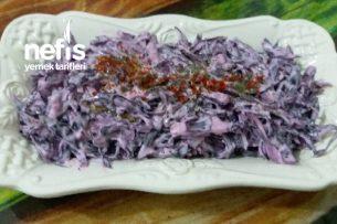 Kırmızı Lahana Salatası (Pişirme İşlemi Olmadan) Tarifi
