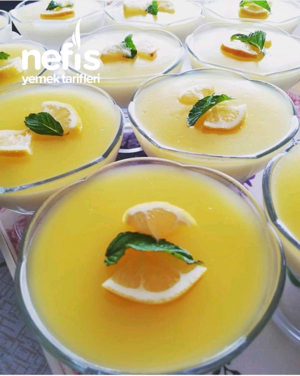 Limon Aromalı Muhallebi