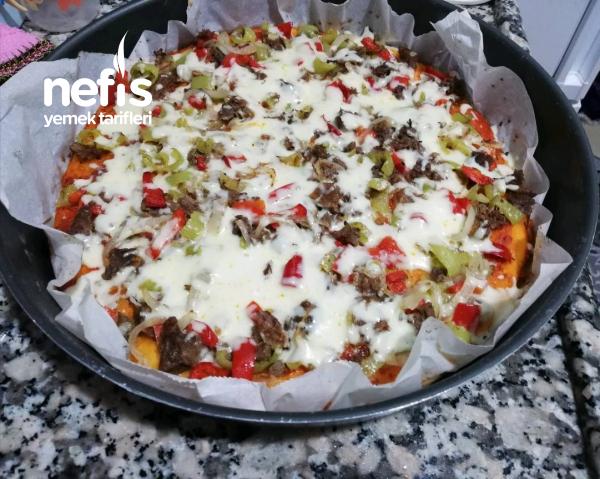 Alışılmışın dışında kavurmalı pizza