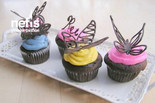 Çikolatadan Kelebek Süs Dekor (Cupcake Doğum Günü İçin) Tarifi