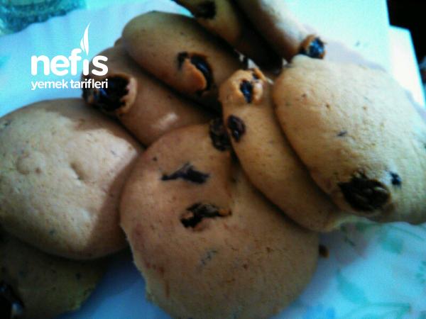 Kuru üzümlü çikolatalı Cookie