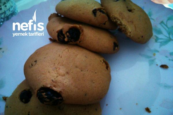 Kuru Üzümlü Çikolatalı Cookie Tarifi