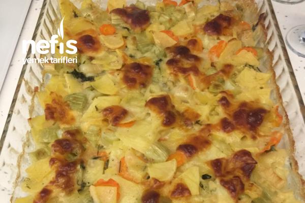 Pırasalı Patates Graten Tarifi