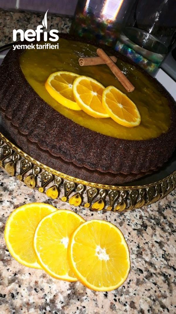 Portakallı Kakaolu Tart