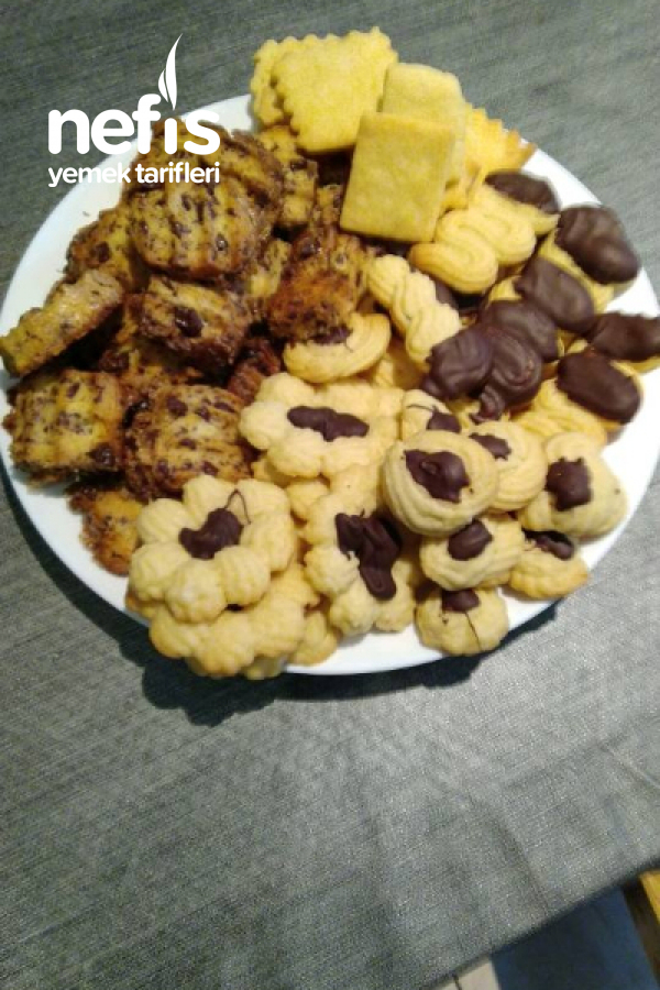 Yılbaşı Kurabiyeleri (Squeezed Cookie +Walnut Cookie +Icebox Cookie)