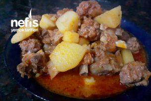 Etli Ve Köfteli Patates Yemeği Tarifi