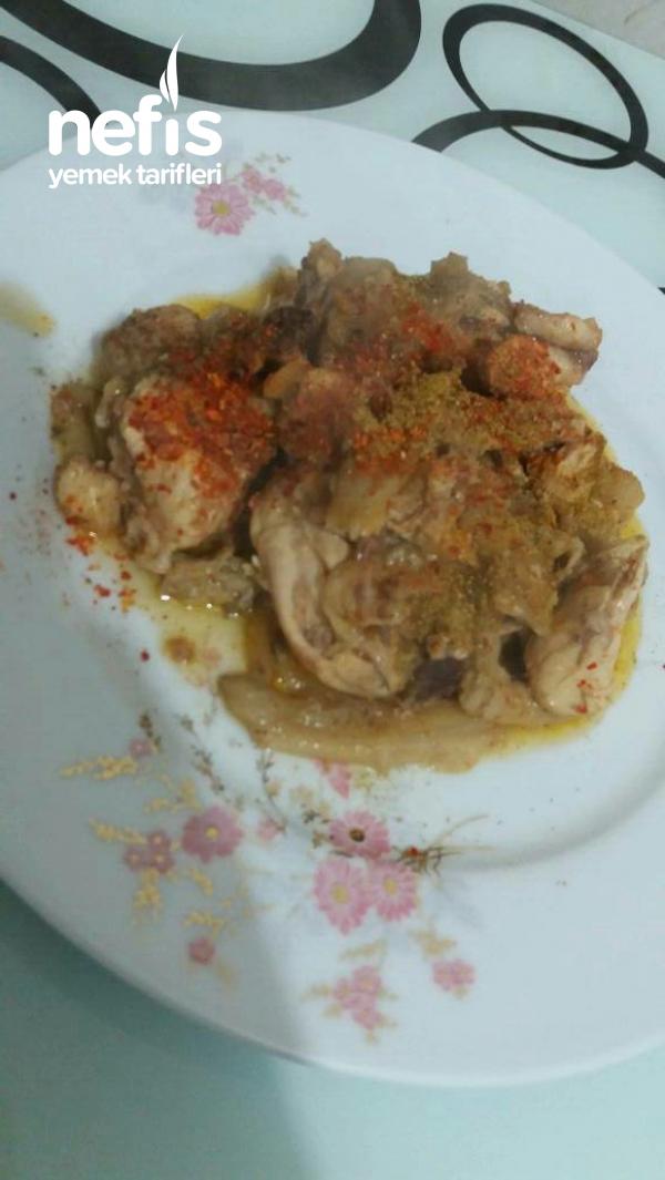 Güveçte İstiridye Mantarlı Tavuk