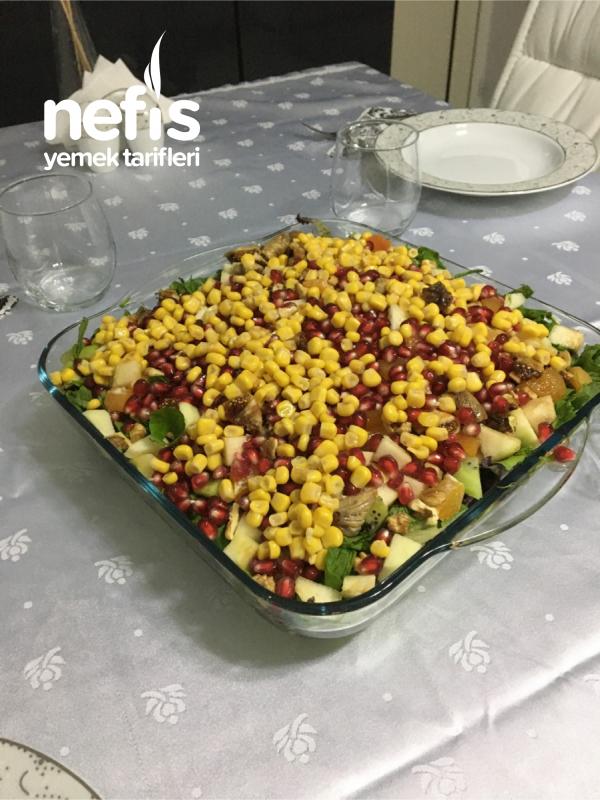 Meyveli Yeşillik Salatası Muhteşem Lezzet