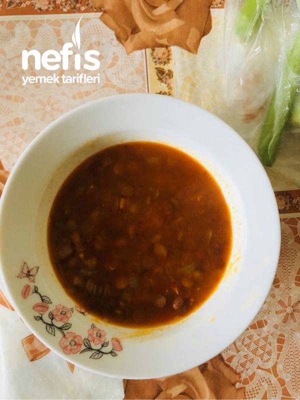 Patatesli Yeşil Mercimek Çorbası