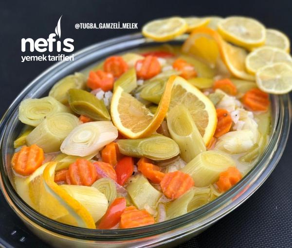 Portakallı Zeytinyağlı Nefiss Pırasa Yemeği