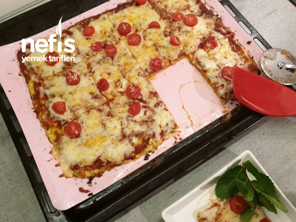 Tamamen Unsuz Harika Pizza, Böylesini Hiç Görmediniz (Low Karb)