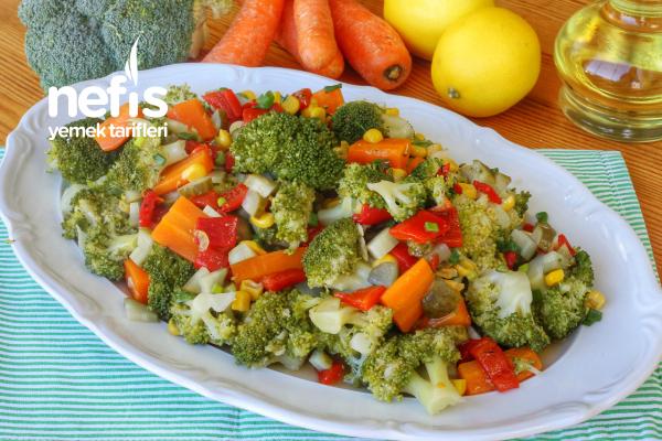 Zeytinyağlı Brokoli Salatası (videolu) Tarifi