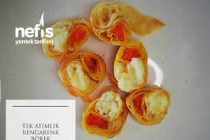 Kahvaltı Sofralarınızda Yeni İkram Tek Atımlık Rengarenk Börek (Videolu) Tarifi